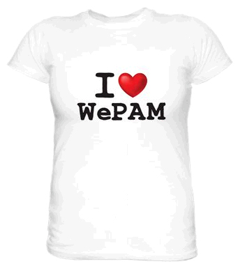 Tee-shirt I love WePAM à gagner avec Place des Loisirs