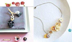 Broche Nature et collier Pastel en WePAM