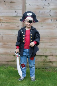 Le costume de pirate - Vue de face